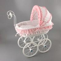 Плетеная коляска для куклы из ротанга