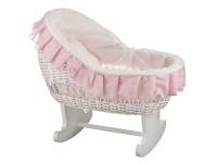 Плетеная ретро кроватка для куклы