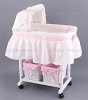 Плетеная кроватка для куклы из ротанга